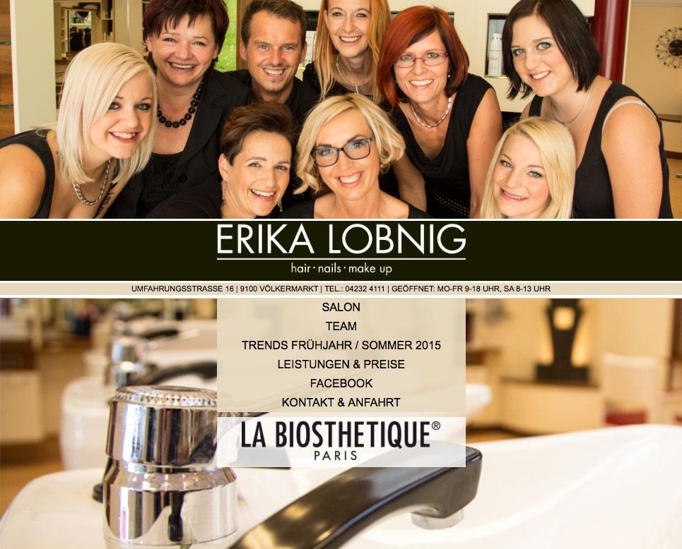Screenshot der Website www.erika-lobnig.at