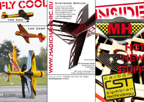 Werbeflyer der Modellbaumarke Magichand-RC