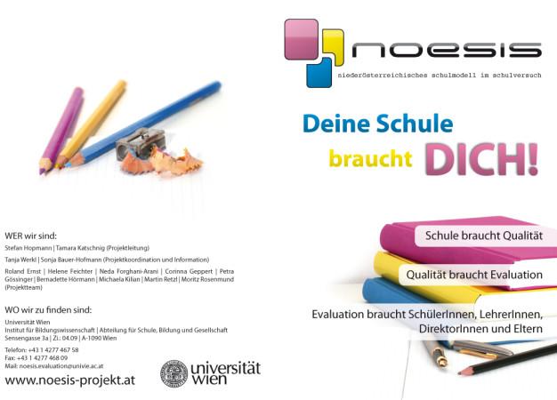 Aussenansicht des Werbeflyers für das NOESIS Projekt