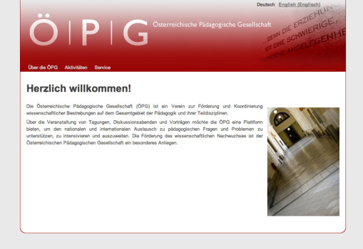 Screenshot der website www.dieoepg.org