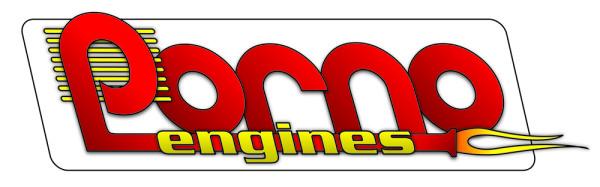 Logo der Modellbaumarke Porno Engines