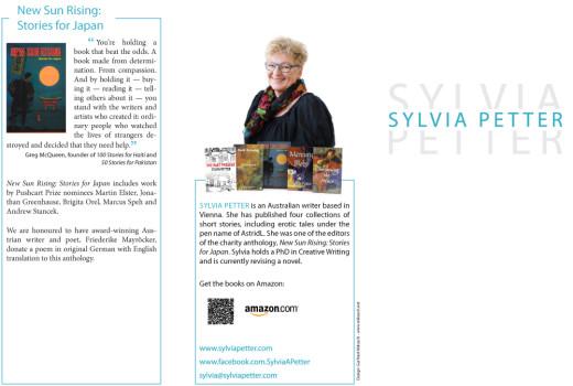 Werbeflyer für Sylvia Petter